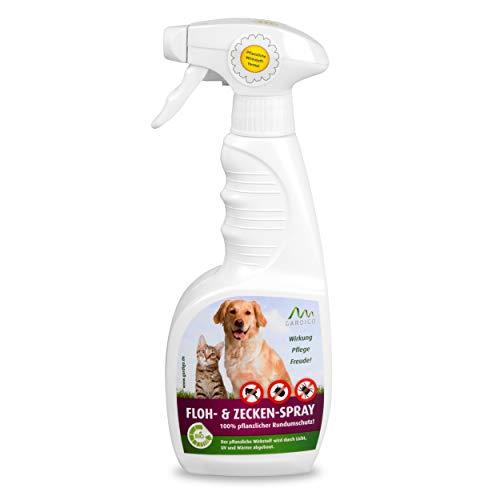 Gardigo Floh- und Zeckenspray 500 ml I Zeckenschutz für Hunde und Katzen I Zeckenschutzmittel, Flohschutzmittel