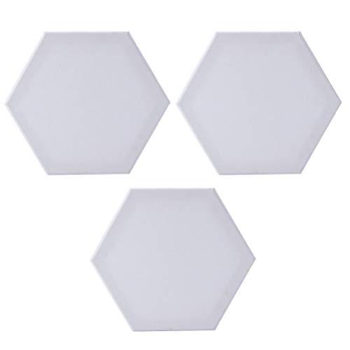 Milisten Hexagon Leinwand für Ölgemälde, 12,5 cm, 3 Stück