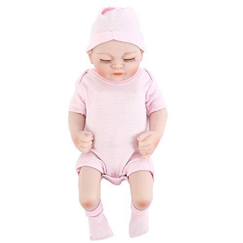 Enjoygoeu NPK Reborn Muñeca Pequeño Bebé de Cuerpo de Silicona de Vinilo Realista de Mano Rebote para Niñas Juguetes Boca Magnética Hermosa 26cm (Rosa)