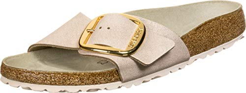 BIRKENSTOCK 1015858 Madrid BB VL Washed - Damen Pantoletten - metallic-Rose-Gold, Größe:40 EU