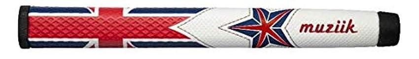 見積り検体重々しいmuziik グリップ パター グリップ ムジーク ワンスターUKフラッグ MID ユニセックス PWE3V-UKFR-01