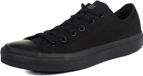 Converse Converse Unisex Chuck Taylor All Star Low Top Black Monochrome Sneakers - US Men 8.5 / US Women 10.5
