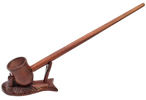 Matchpipe 11 inch Long- Handcrafted high Quality Churchwarden Style Real Wood Extra Long stem Tobacco Pipe - Stand not Included