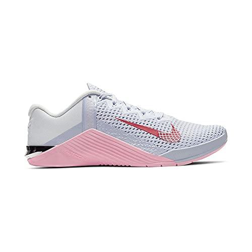 Nike, Scarpe da Ginnastica da Donna Metcon 6, (Football Grey Bright Crimson), 42.5 EU