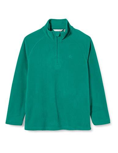 Color Kids Unisex-Child Fleece Pulli Pullover Sweater, Golf Green, 122