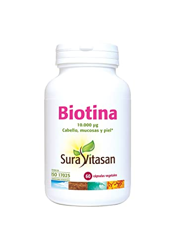Biotina 10.000 µg cabellos, mucosas y piel