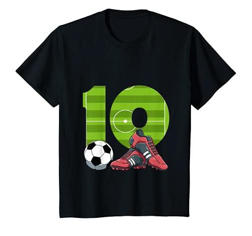 Niños Décimo cumpleaños de fútbol 10 años niño niña Camiseta