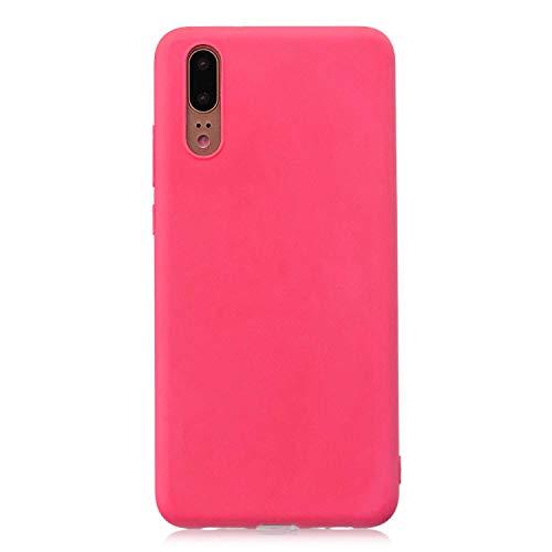 cuzz Custodia Huawei P20 PRO+{Film di Vetro temperato}Silicone TPU Cover Morbida Protettiva Custodia Ultra Sottile Leggero Cover-Rosso