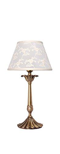 Premium Tischleuchte aus Messing bronziert Jugendstil E14 bis 60W 230V Schlafzimmer Nachttischleuchte Wohnzimmer Lampe Leuchte innen Tischlampe