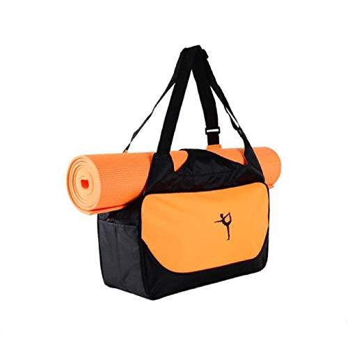 SENFEISM Bolsa de gimnasio impermeable de yoga para esterilla de gimnasio, mochila de nailon para hombro, para yoga, pilates, esterilla de yoga