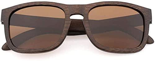 Gafas de sol vintage de madera de bambú modernas y elegantes gafas de sol ligeras para hombres y mujeres