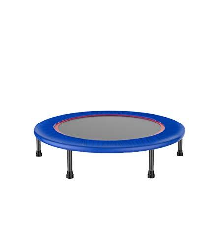 JYTTCE trampoline, veilig, stil binnen trampoline, versterkte doek cover, afneembaar, bestand tegen 150KG, 40 inch Yoga benodigdheden trampoline Blauw