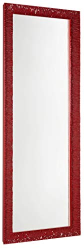 GaviaStore - Julie 140x50 cm - Espejo de Pared Moderno - Grande Largo Cuerpo Entero hogar decoración Sala de Estar Salon Modern Dormitorio baño Entrada Wall (Rojo)