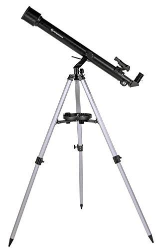 Bresser Refraktor Einsteiger Teleskop Stellar 60/800 mit Smartphone Kamera Adapter und hochwertigem Objektiv-Sonnenfilter, inklusive Stativ und umfangreichem Zubehör