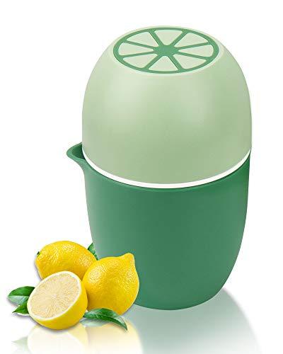 Lechin Zitronenpresse Einzigartiger Zitruspresse in Zitronenform Manueller Entsafter mit zwei Pressmöglichkeiten für verschiedene Früchte (Grün)