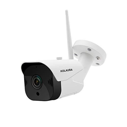 Telecamera di sicurezza esterna, telecamera IP di sorveglianza WiFi Kolaura 1080P con audio bidirezionale, rilevamento del movimento, visione notturna, accesso remoto - iOS, Android