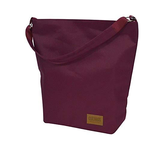 C-BAGS SHOPPER BAG CLASSIC Gepäckträger Fahrradtasche Tasche (burgundy)