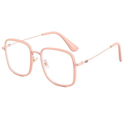 VEVESMUNDO Gafas antiluz azul para mujer, con filtro de luz azul, modernas, sin visión, antifatiga, grandes, rectangulares, decorativas, montura de gafas