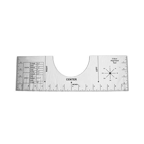 Tidyard Regla de alineación de Camisetas Regla de artesanía Herramienta de medición de Camisetas acrílicas Transparente para Hacer un diseño de Centro de Moda 16 * 5 Pulgadas
