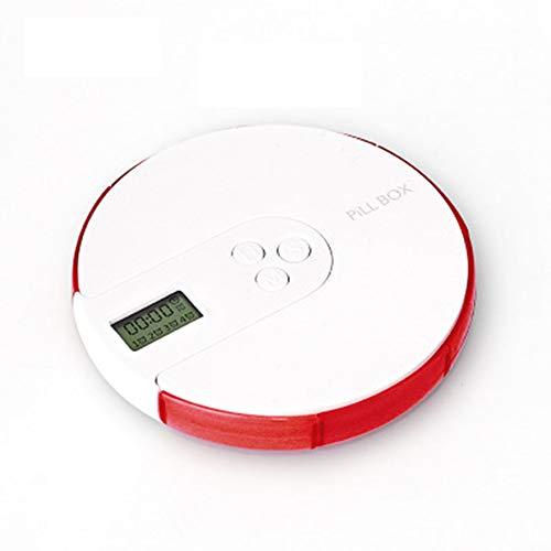 XIANGHUI Tablettenbox 7 Tage Mit Alarm, Digitaler Regenbogen Pillendose, Tragbare Elektronische Intelligente Pillenbox, Mit 4 Gruppen Von Alarm-Erinnerungen Zur Täglichen Medikamenteneinnahme