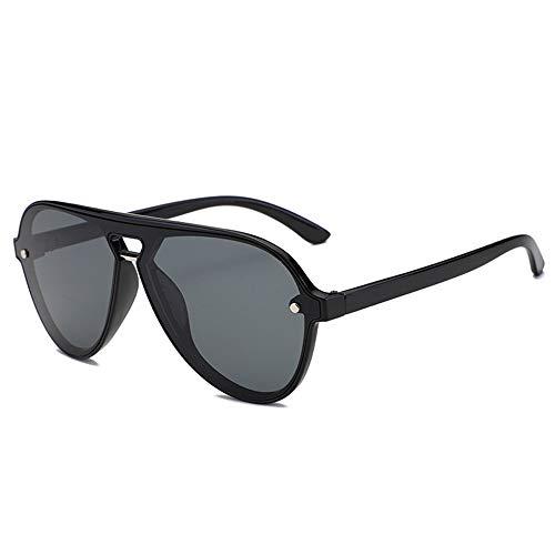 Bradoner Azul Negro Rosa Gris UV400 Gafas Personalidad Masculina Ion Negativo Gafas De Sol Polarizadas HD Gafas De Sol (Color : Black)