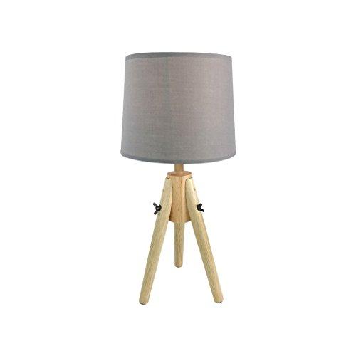 ZONS Lampe Scandi en Bois 23x23xH48cm Gris