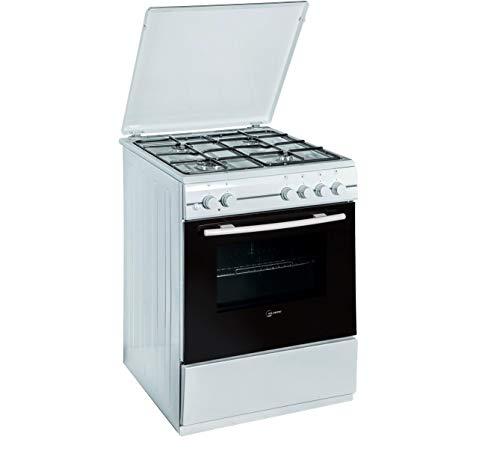 Atlantic ATMC66E - Cucina a gas con forno elettrico 4 fuochi 60x60 cm colore Bianco