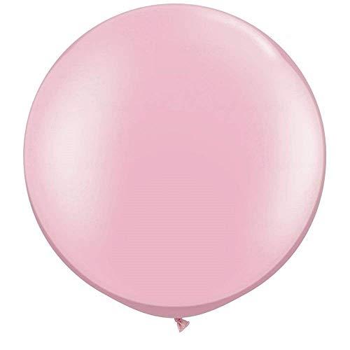 ZiYan 36 Inch Giant Latex Balloon Pearlescent Pink (Premium Helium Quality) Pkg/6