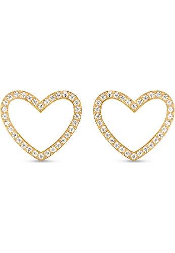 GMK Collection Damen-Ohrstecker Edelstahl 64 Zirkonia One Size Gold 32012874