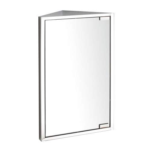 clickbasin Corner Bathroom Mirror Wall Single Door Cabinet 600mm x 300mm BILBAO