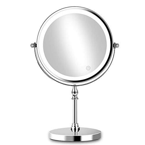ACOLAR Kosmetikspiegel Beleuchtet Doppelseitig 360° LED Schminkspiegel mit 1x/10x Fache Vergrößerung Touchschalter Batterie Schminkspiegel Rasierspiegel für Badezimmer und Zuhause