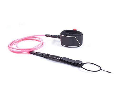 Zhaolan-Digital Tester Accesorios de Surf Cuerda de la Pierna del Surf de la Correa de la Correa de la Tabla de Surf de 6 pies de la Cuerda de tracción elástica (Color : Pink)