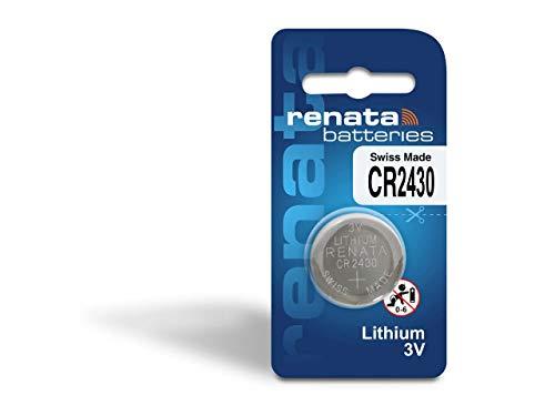Renata CR 2430 Pile bouton au lithium pour montre DL 2430, ECR 2430, BR 2430 3 V