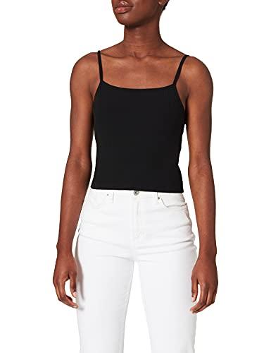 Only ONLLARRA Cropped Singlet JRS Noos Camiseta sin Mangas, Negro, XS para Mujer