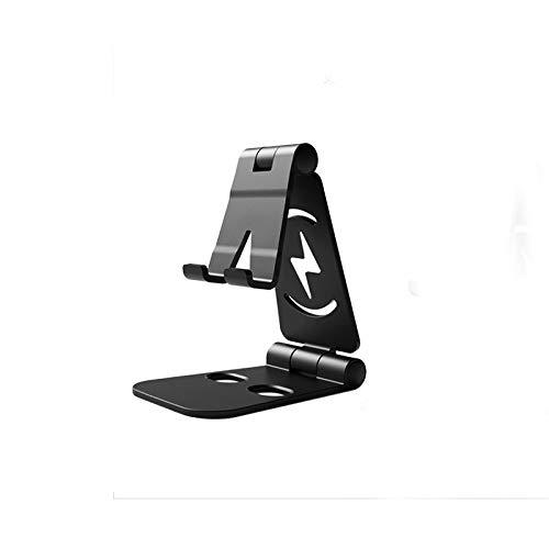 ETbotu Supporto per Cellulare, Supporto da Tavolo Universale Pieghevole da Tavolo per Supporto da Tavolo per Tablet Cellulare Nero