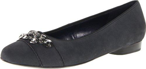 ara Women's Pixie Flat,Black Calf,10.5 M US