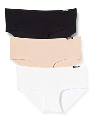 Skiny Damen Advantage Cotton Panty 3er Pack Panties, Mehrfarbig (Trio Selection 2821), 38