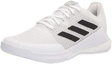 adidas Women's Crazyflight Volleyball Shoe, White/Black/Grey, 10