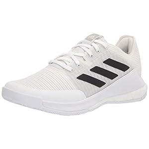 adidas Women's Crazyflight Volleyball Shoe, White/Black/Grey, 9