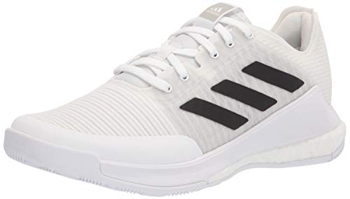 adidas Women's Crazyflight Volleyball Shoe, White/Black/Grey, 7