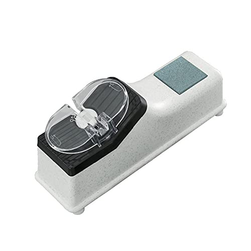 Kibola de cocina multifunción, batería integrada/recarga USB (opcional) Afilador de corte ajustable, piedra de moldeo rápido, afilador de corte automático, herramienta útil de cocina