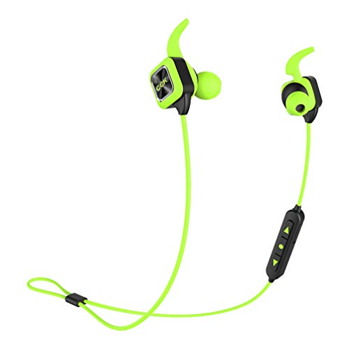 Sports Running Headsets Bluetooth Headphones Ear Buds, CCK KS Plus Dual Battery Hi-fi Music Sweat Proof Noise Canceling Wireless Earphones with Mic for Outdoor Gym Workout Exercising (Green)