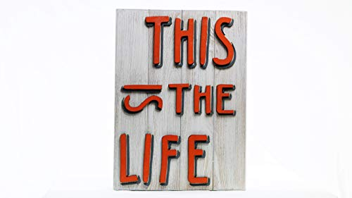 This is the life.3D cartel de madera.Decoración para pared hecha en Mallorca