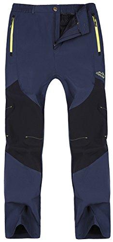Singbring Women's Outdoor Lightweight Waterproof Hiking Mountain Pants X-Small Navy(608)