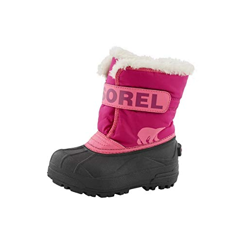 Sorel Toddler Snow Commander Boot for Rain and Snow - Waterproof - Tropic Pink - Size 7