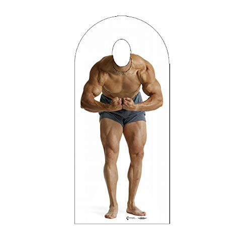 Cardboard People Muscle Man Stand-in Life Size Cardboard Cutout Standup
