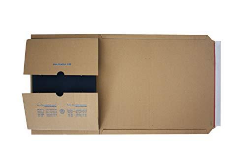 Carte Dozio - Scatole in cartone ad altezza variabile per spedizioni - F.to int. mm 302x215x20/75-25 pz a conf.