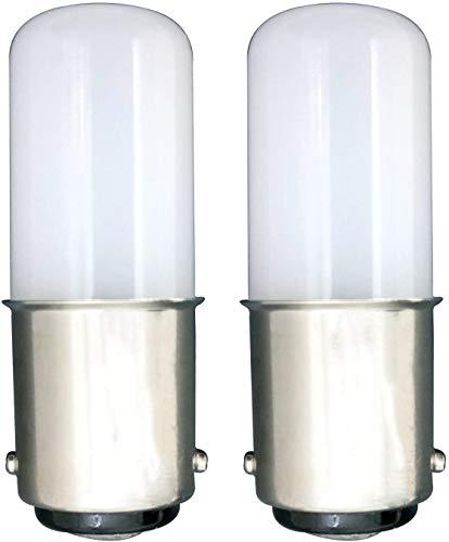 MZMing [2 unidades] LED B15 Ahorro de Energía Bombilla LED de 1.5 Vatios Equivalente a Bombilla Halógena de 15 Vatios Blanco Frío 6000K-Máquina de Coser / Refrigerador No Ajustable Con Pocas Calorías
