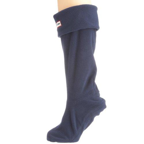 Hunter - Calcetines de forro polar para botas de agua, Azul - azul marino, 39-42 ( UK L)
