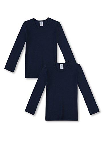 Sanetta Jungen T-Shirt Langarm im Doppelpack aus Bio-Baumwolle - Made in Europe - Neptun (50226), 140